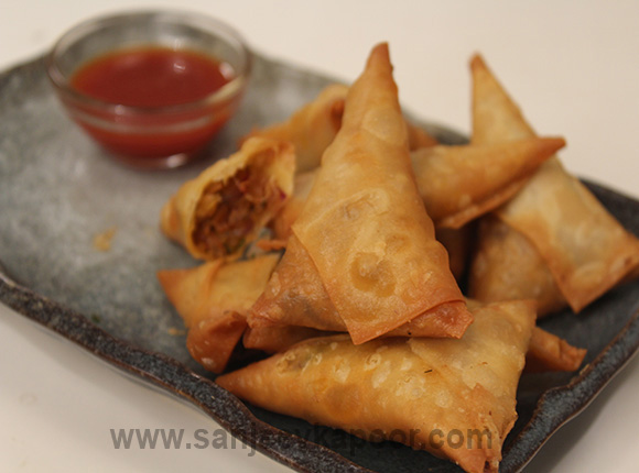 Poha and Onion Patti Samosa