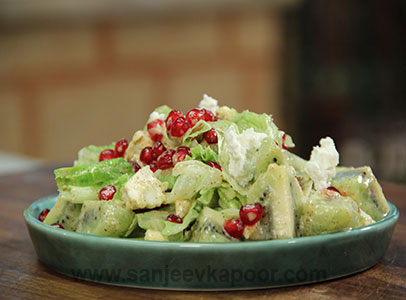 9 dishes best served cold recipes chef sanjeev kapoor pomegranate and kiwi salad forumfinder Images