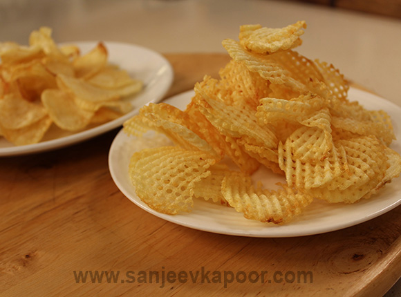 Pure jain food recipes by master chef sanjeev kapoor potato wafers forumfinder Image collections