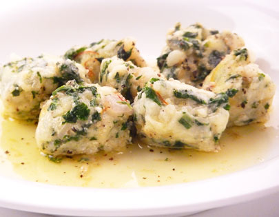Potato And Spinach Gnocchi With Saffron