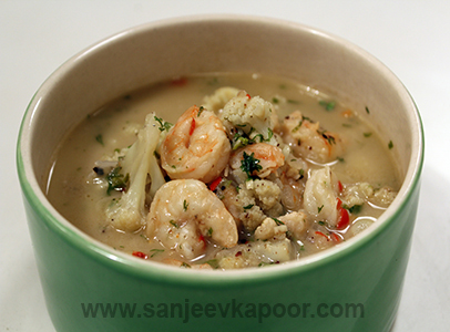 Prawn and Cauliflower Curry