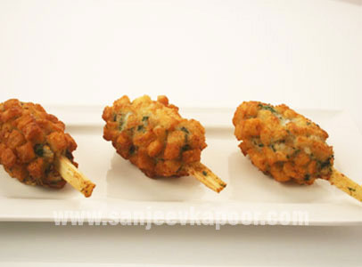 Prawn Fritters On Sugarcane Sticks