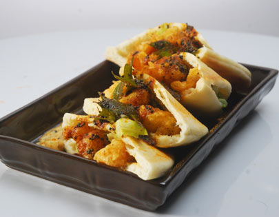 Prawn Tempura in Pita Pockets