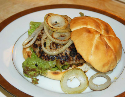 Prune Chicken Burger