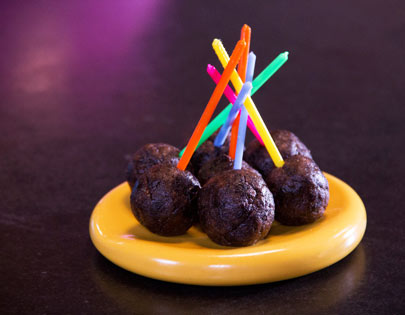 Prunes and Walnut Lollypops