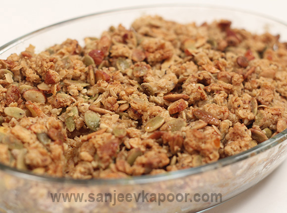 Healthy food recipes by master chef sanjeev kapoor pumpkin and pineapple crumble forumfinder Images