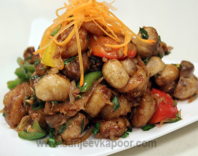 Quick Fried Prawns With Mushrooms