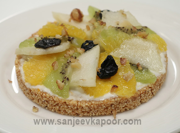 Rajgira Fruit Pizza