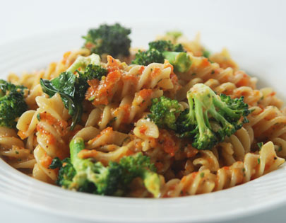 Red Pepper Pesto Fusilli