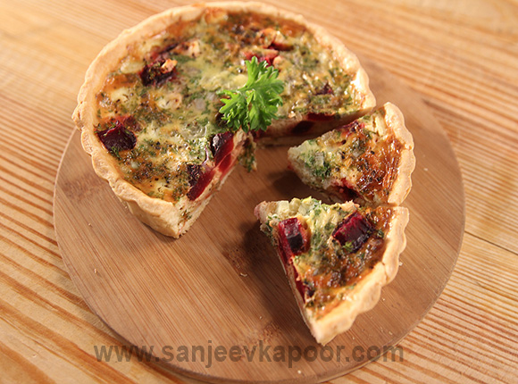 Roasted Beetroot Feta Tart