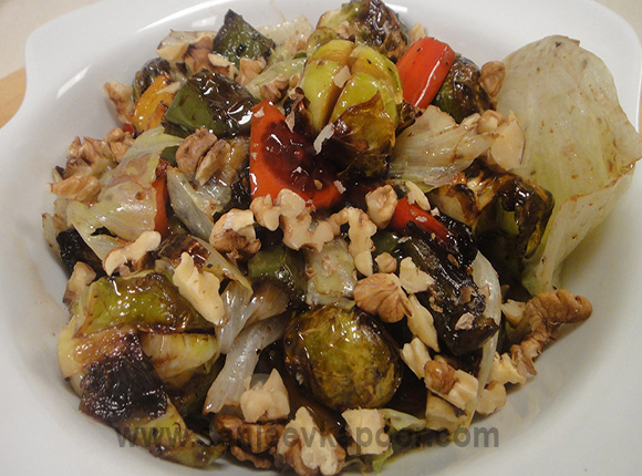 Roasted Brussel and Vegetable Salad