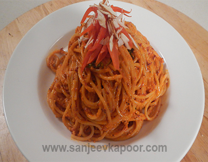 Roasted Pepper Spaghetti