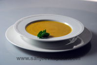 Roasted Onion, Garlic And Pumpkin Soup