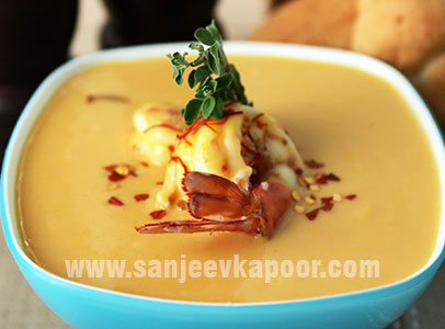 How to make saffron seafood bisque recipe by masterchef sanjeev kapoor saffron seafood bisque forumfinder Choice Image