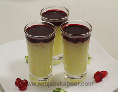 Sago Pudding with Pomegranate