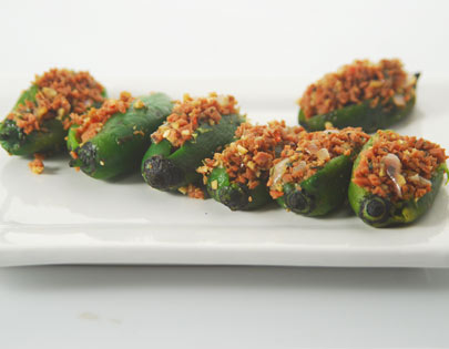 Sausage Stuffed Chillies