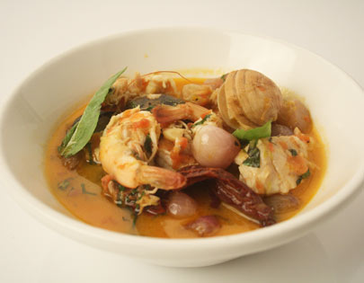 Sea Food Stew With Burnt Chillies And Saffron