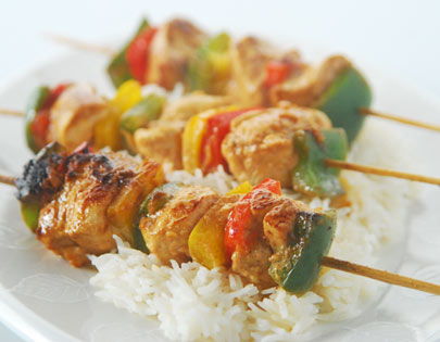 Shish Taouk With Rice