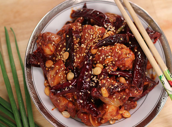 Sichuan Chicken with Red Wine