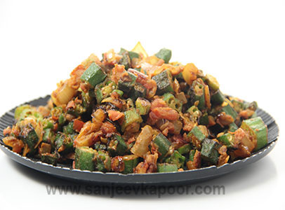 How to make sindhi pyazwali bhindi recipe by masterchef sanjeev kapoor you can also find more main course vegetarian recipes like beancurd laksa baby potatoes forumfinder Choice Image