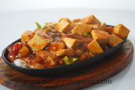 Sizzling Chilli Beancurd