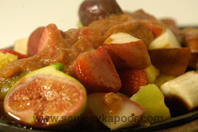 Sizzling Fruits With Mixed Fruit Sauce