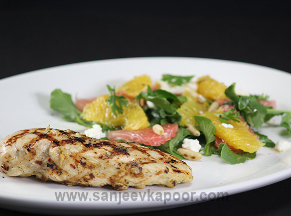 Smoked Chicken with Citrus Salad