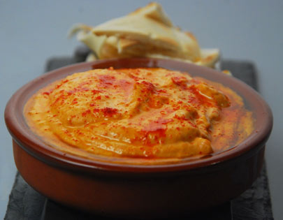 Spiced Red Pepper Hummus