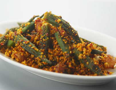 How to make spicy bhindi andhra style recipe by masterchef for more recipes related to spicy bhindi andhra style checkout bhindi masala achari dahiwali bhindi bhindi aur oats sabji quick bhindi sabzi forumfinder Image collections