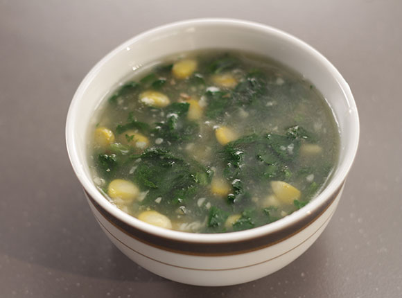 Spinach and Corn Soup-SK Khazana