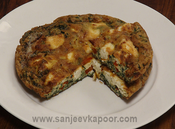 Healthy breakfast recipes by master chef sanjeev kapoor spinach and paneer frittata forumfinder Gallery