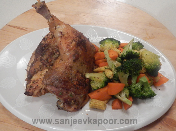 Spring Chicken with Sauteed Vegetables