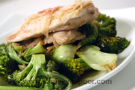 Steamed Ginger Chicken With Asian Greens