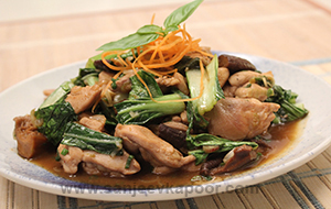 Stir Fried Chicken with Bok Choy