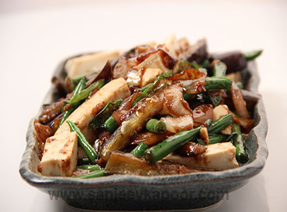 Stir Fried Eggplant with Beans