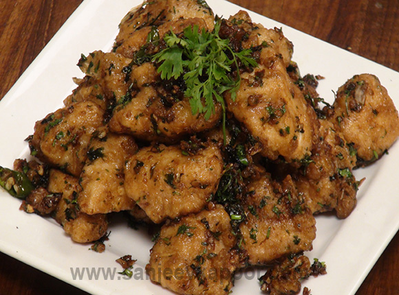 Stir Fried Garlic Chicken with Coriander