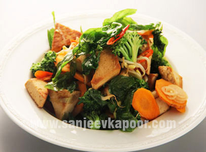 Stir Fried Vegetables with Chilli and Basil