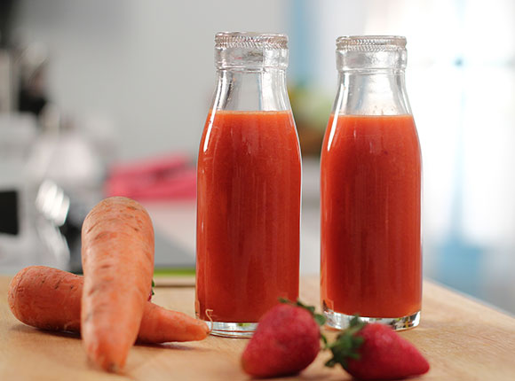 Strawberry Carrot Orange Juice