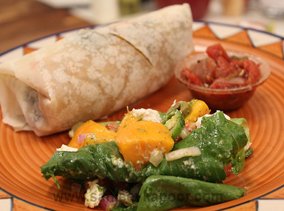 Summer Vegetable Burrito