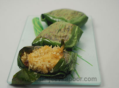 Sweet Rice in Banana Leaf