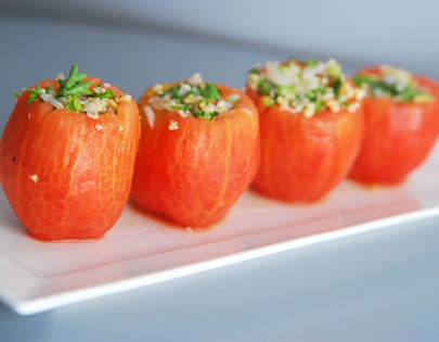 Taboulleh Stuffed Tomatoes