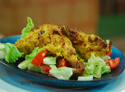 Tangdi Kabab with Salad