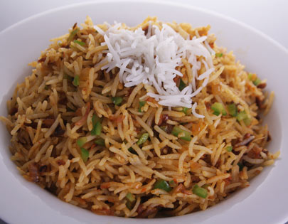 How to make tawa pulao recipe by masterchef sanjeev kapoor tawa pulao recipe card forumfinder Image collections