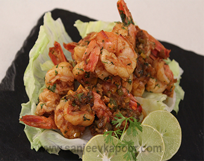 Tequila Fired Chipotle King Prawns