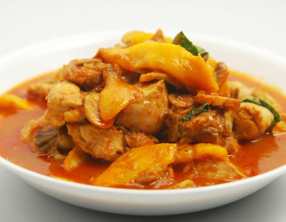 How to make thai chicken and mango curry recipe by masterchef thai chicken and mango curry forumfinder Image collections