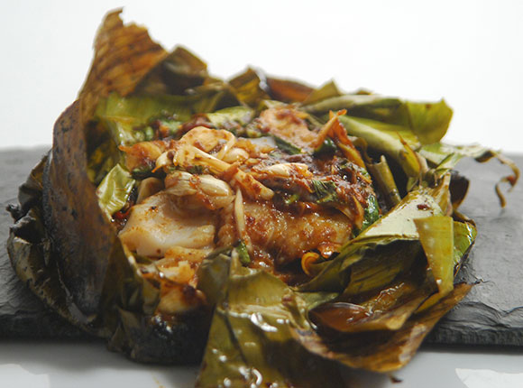 Thai Fish in Banana Leaf-Cook Smart