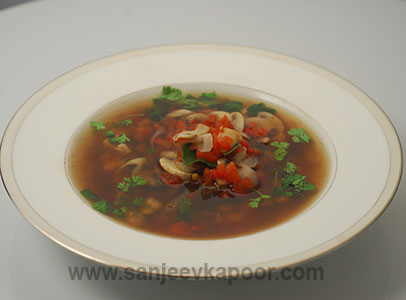 How to make Thai Hot and Sour Soup, recipe by MasterChef Sanjeev ...