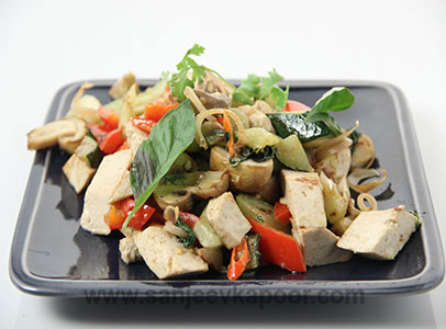 How to make thai tofu with vegetables recipe by masterchef sanjeev thai tofu with vegetables forumfinder Gallery