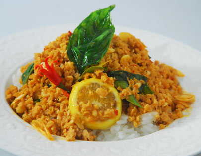 Thai Style Vegetarian Mince with Thai Rice