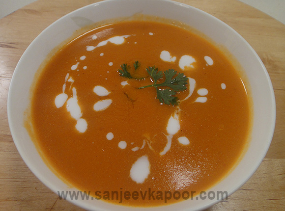 Tomato Carrot and Coconut Milk Soup